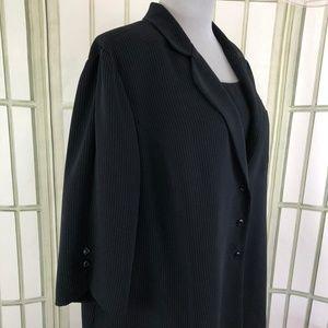 Plaza South Dresses - 2 PC Pinstripe Career Blazer Shift Dress Suit Set